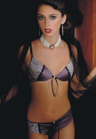 Satin and Lace Bra