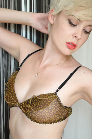 Limited Edition Tiger Frill Bra