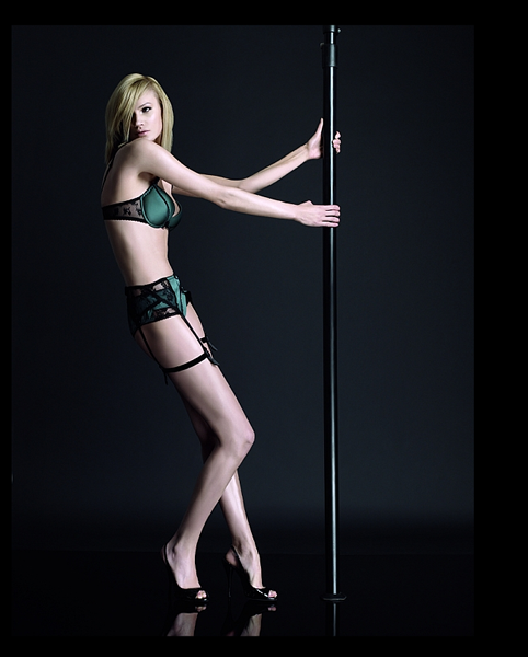 A Silk Bra and Retro Brief/Garter Set From I.D. Sarrieri