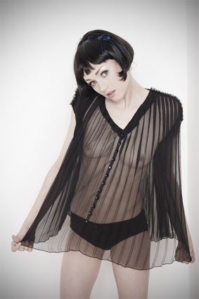 Kriste Chiffon Nightshirt From Kriss Soonik Lingerie